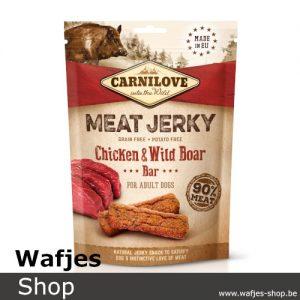 CARNILOVE - MEAT JERKY - Chicken & Wild Boar Bar