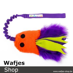 Fluffy Jelly Fish L Orange-Purple