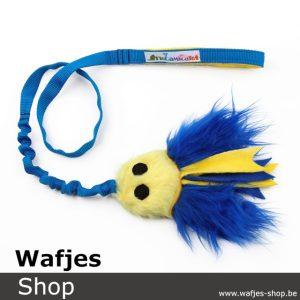 Fluffy Jelly Fish S Yellow-DarkBlue