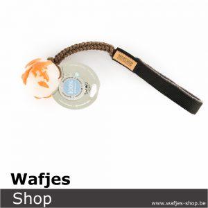 Wafjes-Bungee ChocolateBrown & Orbee-Tuff Planet Ball Orange Medium