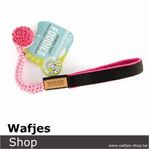 Wafjes-Bungee Pink Orbee-Tuff Planet Raspberry Fleece Fushia