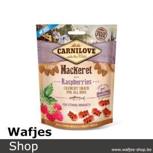 CARNILOVE - Crunchy Snack Mackerel with Raspberries