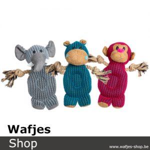 Velvetties olifant-nijlpaard-aap