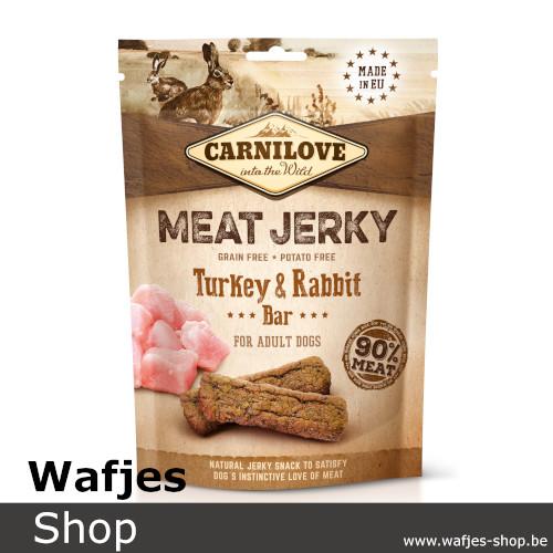 CARNILOVE - MEAT JERKY - Turkey and Rabbit Bar